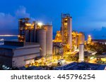 cement plant during sunset | Shutterstock . vector #445796254