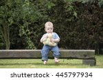 Little Boy With Teddy Bear...