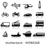 set of  transport icons | Shutterstock .eps vector #44580268