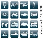 set of 16 transport icons | Shutterstock .eps vector #44580280