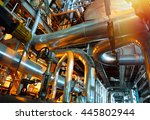 equipment  cables and piping as ... | Shutterstock . vector #445802944