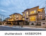 Luxury Houses At Twilight In...