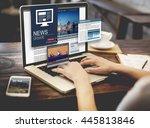 news update journalism headline ...   Shutterstock . vector #445813846