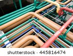 piping of many systems in pipe... | Shutterstock . vector #445816474