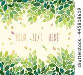 decorative floral frame.... | Shutterstock .eps vector #445818619