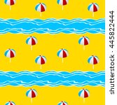 summer seamless pattern with ... | Shutterstock .eps vector #445822444