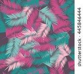 summer denim camouflage... | Shutterstock .eps vector #445846444