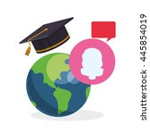 e learning concept with icon...   Shutterstock .eps vector #445854019
