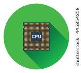 cpu icon. flat color design....