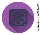 fan icon. flat color design....