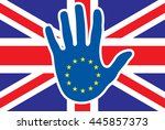brexit concept   stop for great ... | Shutterstock .eps vector #445857373