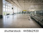 empty departure hall in the... | Shutterstock . vector #445862920