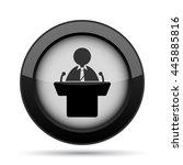 speaker icon. internet button... | Shutterstock . vector #445885816