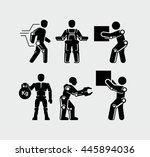 artificial intelligence... | Shutterstock .eps vector #445894036