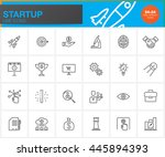 startup line icons set  outline ... | Shutterstock .eps vector #445894393