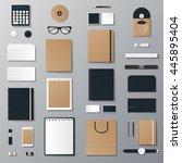 eco mock up vector set. | Shutterstock .eps vector #445895404