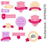 ribbon collection | Shutterstock . vector #445906270