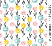 vector seamless pattern with... | Shutterstock .eps vector #445911580