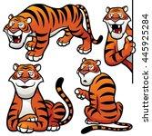vector illustration of cartoon... | Shutterstock .eps vector #445925284
