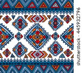 tribal seamless geometric... | Shutterstock .eps vector #445932796