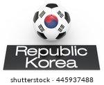 football ball with republic...   Shutterstock . vector #445937488