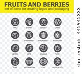 fruit and berries icon... | Shutterstock .eps vector #445945333