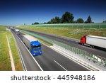 truck transportation on the road | Shutterstock . vector #445948186