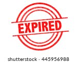 expired rubber stamp over a... | Shutterstock . vector #445956988