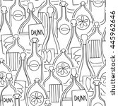 different cartoon bottles....   Shutterstock .eps vector #445962646