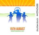 indian national flag colour...   Shutterstock .eps vector #445965688