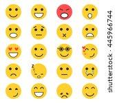 set of emoticons. set of emoji | Shutterstock . vector #445966744