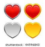 red  gold and silver heart | Shutterstock .eps vector #44596843
