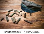 old cartridge shells and... | Shutterstock . vector #445970803