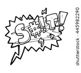freehand drawn speech bubble... | Shutterstock .eps vector #445982290