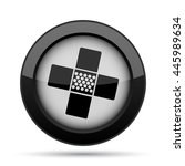 medical patch icon. internet... | Shutterstock . vector #445989634