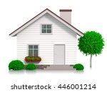 Illustration Of White 3d House...
