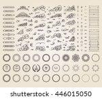 vintage set exclusive borders... | Shutterstock .eps vector #446015050