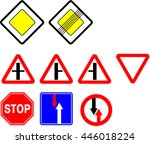 image of various road signs... | Shutterstock . vector #446018224