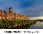 nineteenth century brick mill... | Shutterstock . vector #446019370
