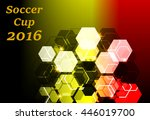 abstract background with soccer ... | Shutterstock .eps vector #446019700