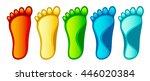 set colorful feet | Shutterstock .eps vector #446020384