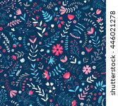 vector seamless floral pattern... | Shutterstock .eps vector #446021278