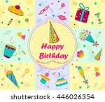 colorful season's greetings for ... | Shutterstock .eps vector #446026354