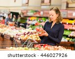 young woman shopping in the... | Shutterstock . vector #446027926