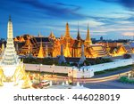 grand palace and wat phra keaw... | Shutterstock . vector #446028019