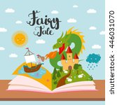fairy tale concept   kids... | Shutterstock .eps vector #446031070