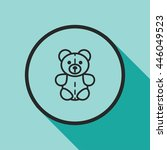 teddy bear line icon | Shutterstock .eps vector #446049523