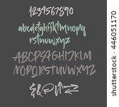 alphabet letters  lowercase ... | Shutterstock .eps vector #446051170
