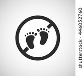 no bare foot icon | Shutterstock .eps vector #446052760