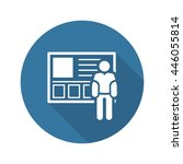 consulting service icon. flat... | Shutterstock . vector #446055814